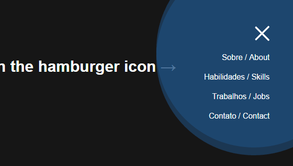 Demo Image: Hamburger Icon With Morphing Menu