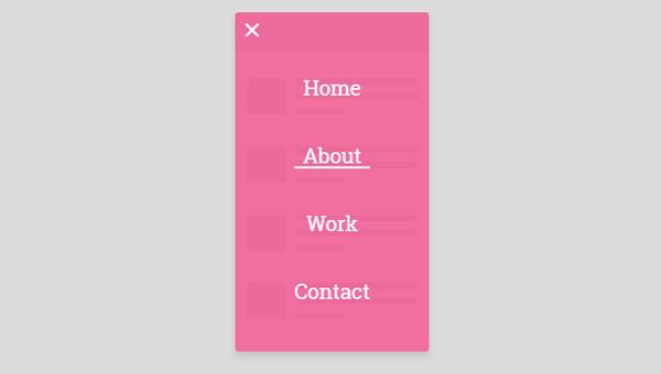 Demo Image: Mobile Navigation
