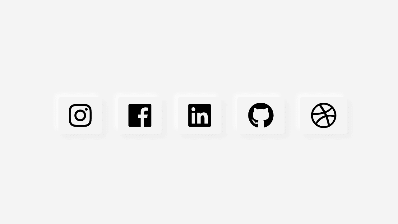 Demo image: Neumorphism - Animated Social Icons