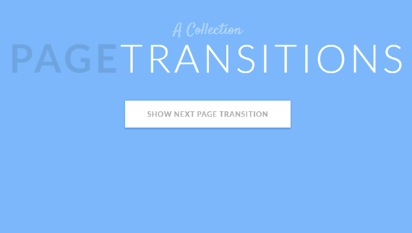 20 CSS Page Transitions