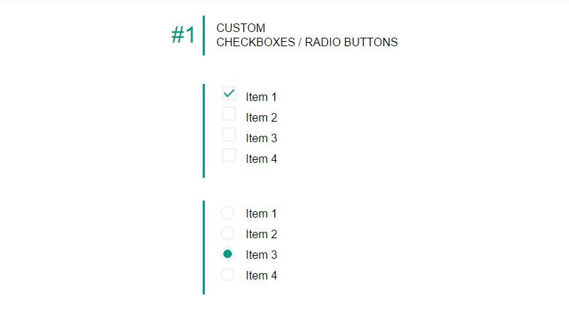 Demo Image: Custom Checkboxes/Radio Buttons