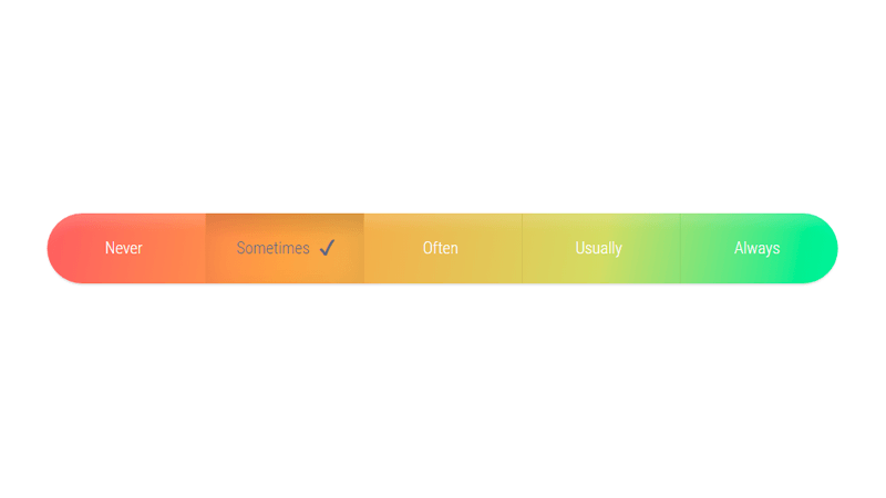 Demo Image: Radio Button Input Scale