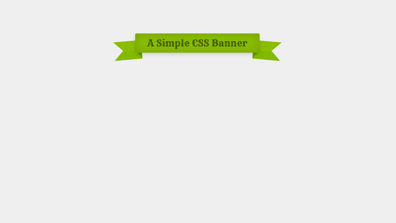 Demo image: Simple CSS Banner