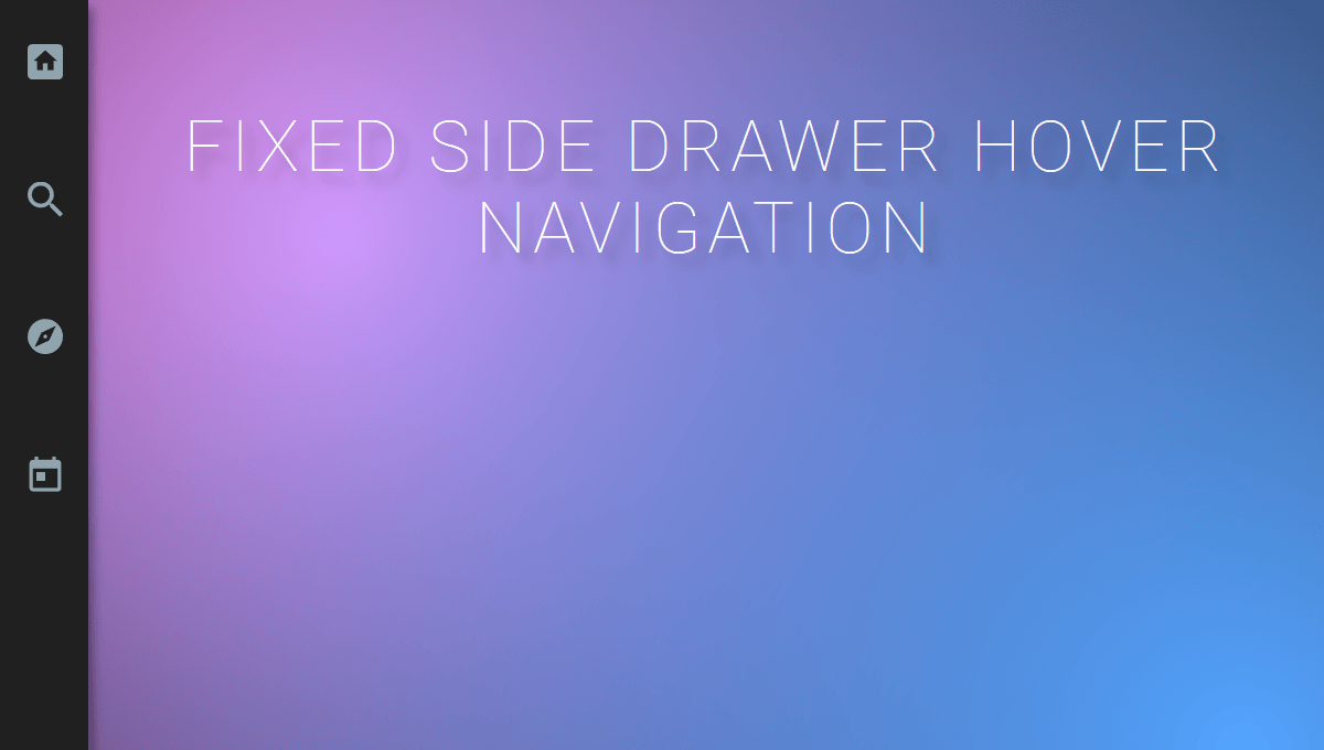 Demo image: Fixed Hover Navigation