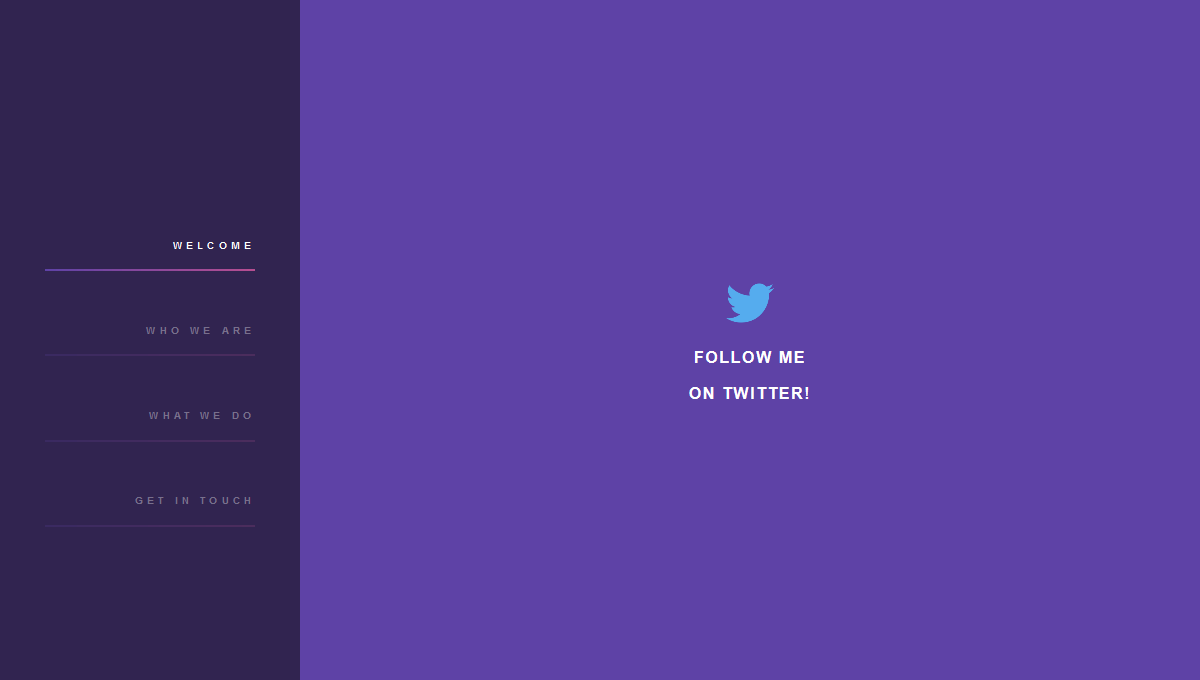 Demo image: Purple Sidebar Menu