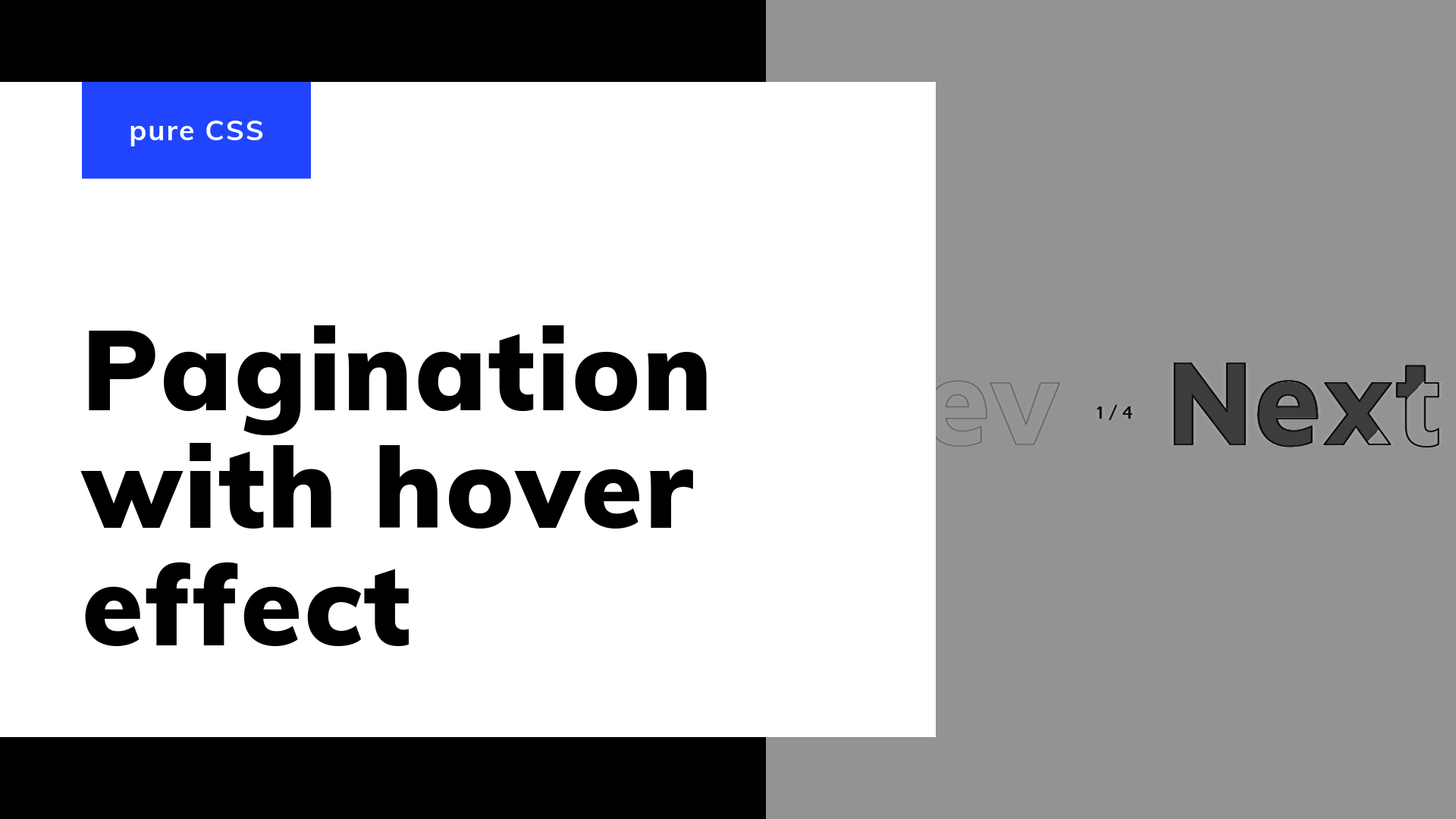 Post thumbnail: CSS Pagination With Hover Effect