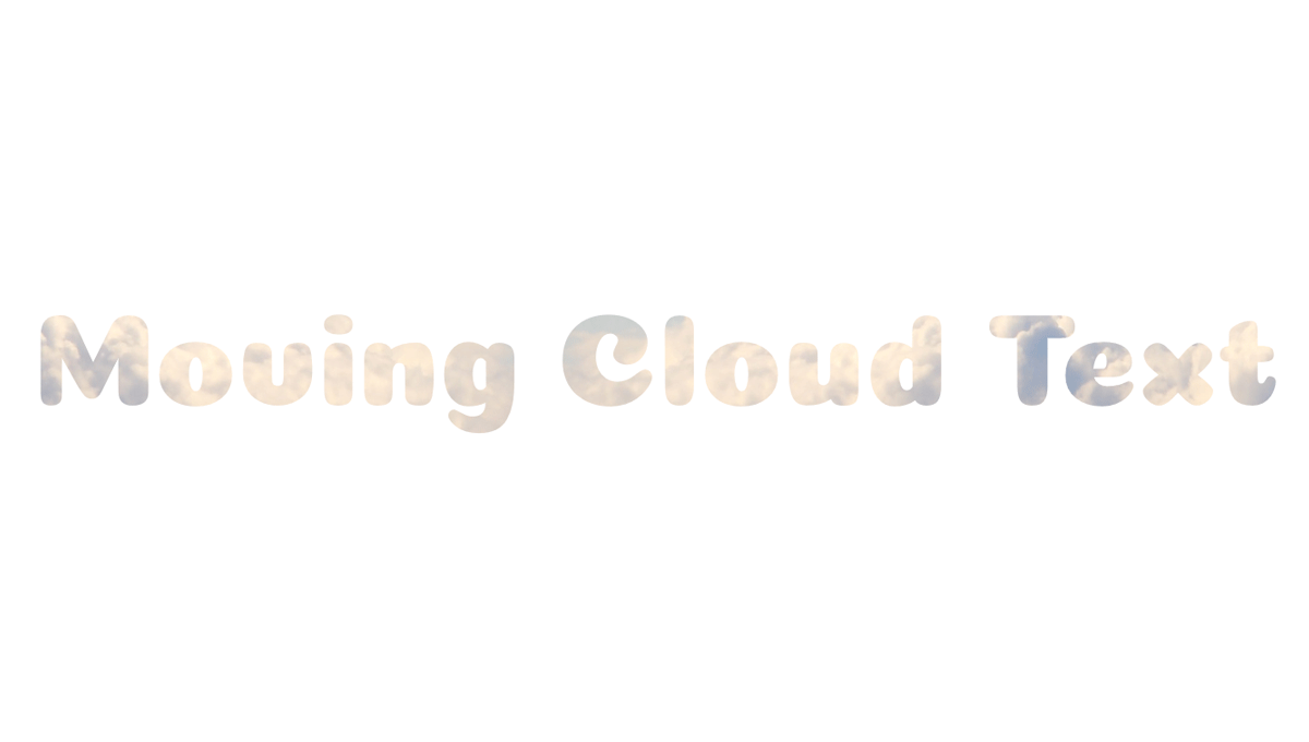 Demo image: Moving Cloud Text