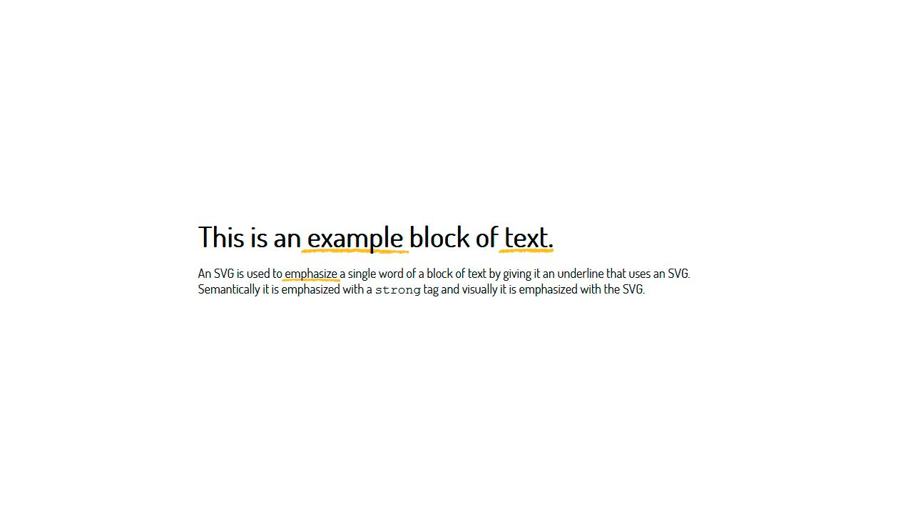 Imagen de demostración: texto subrayado SVG
