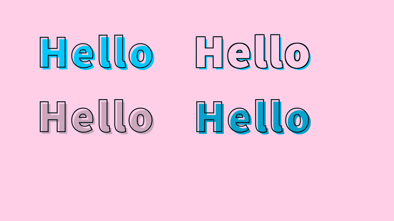 Demo image: Text Stroke + Offset Shadow