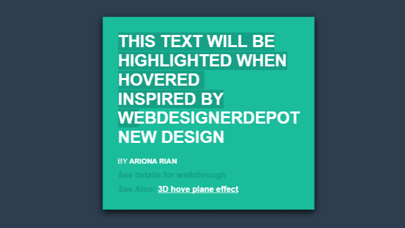 82 CSS Text Effects