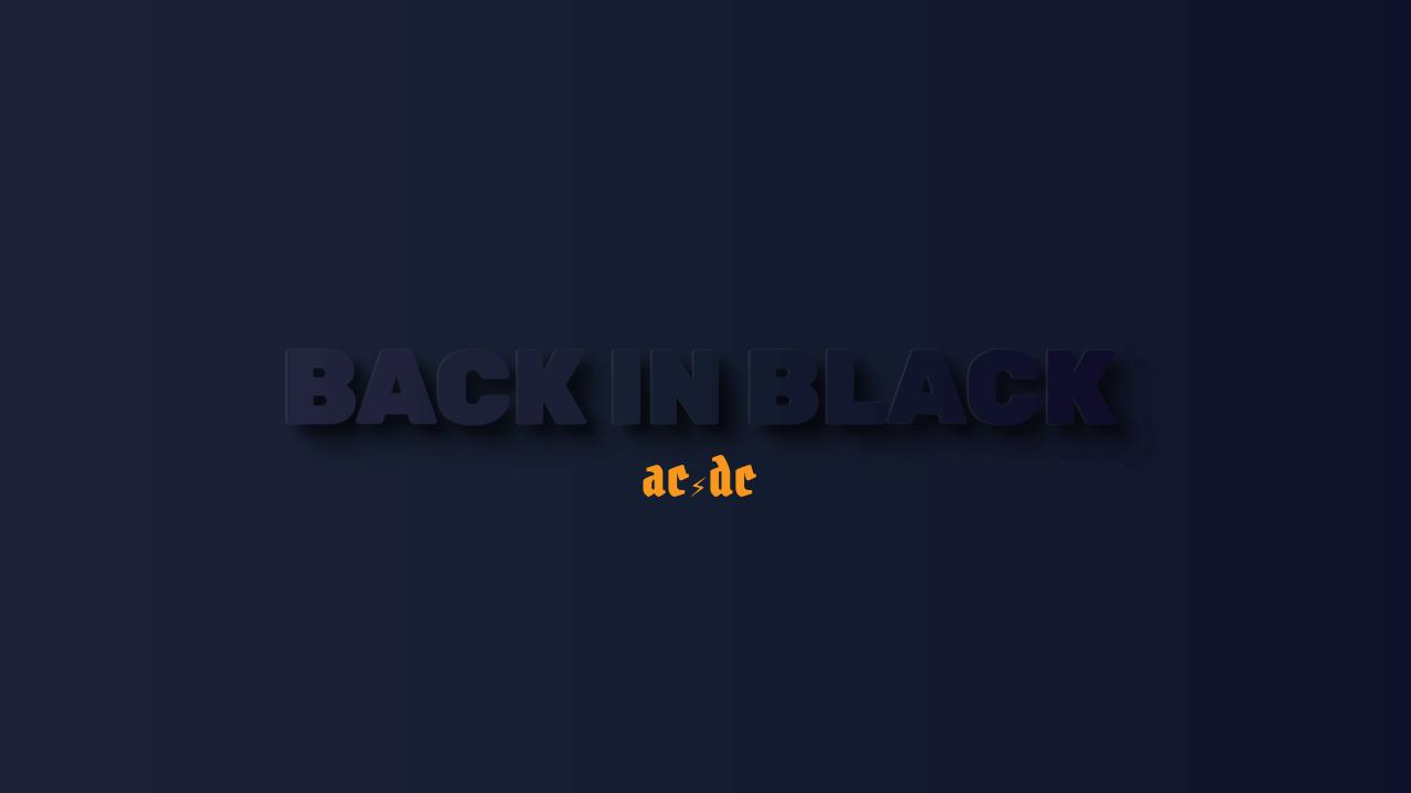 Imagen de demostración: De vuelta en negro