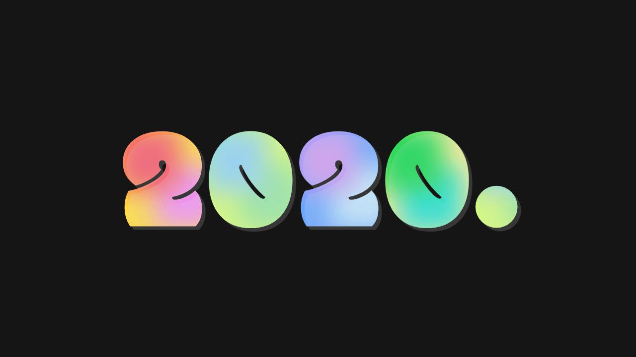 Imagen de demostración: Veinte veinte y gradientes multicolores