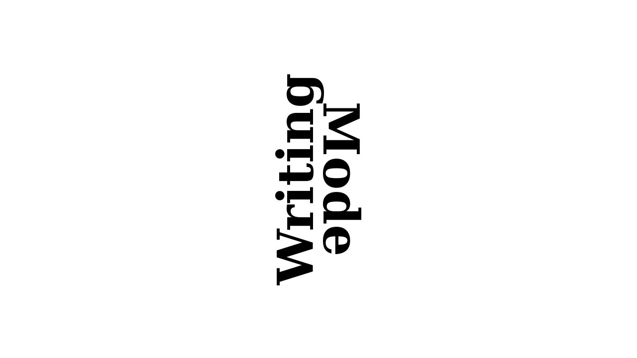 Imagen de demostración: modo de escritura