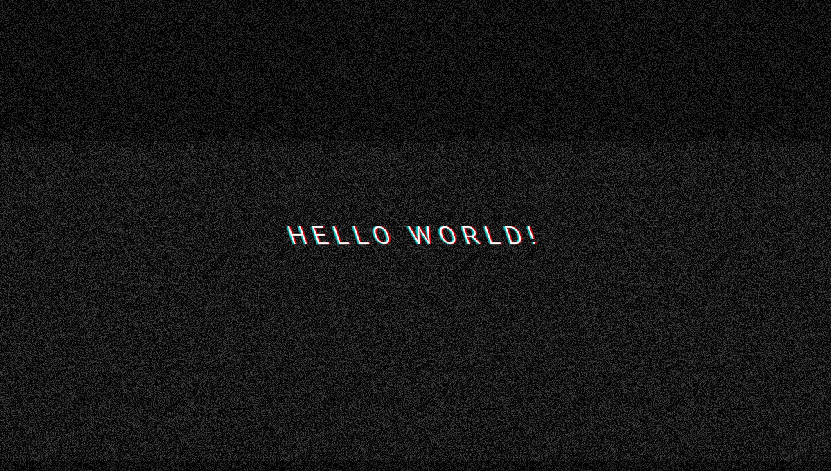 Demo image: Glitched Text