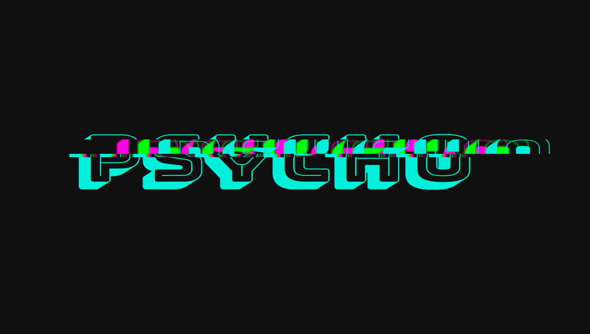 Demo image: Psycho Glitch with CSS variables keyframes