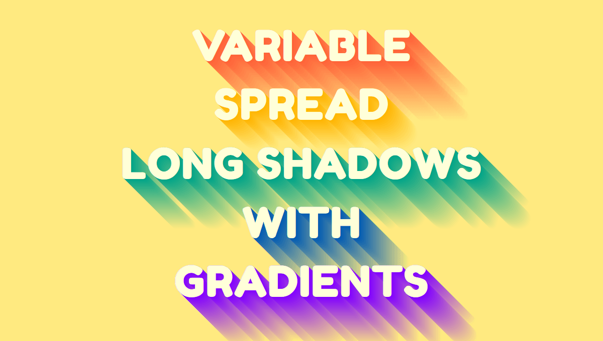 Demo image: Variable Longshadow with Gradients Mixin
