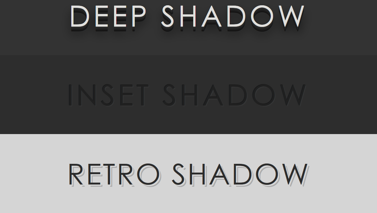 Demo image: CSS3 text-shadow Effects
