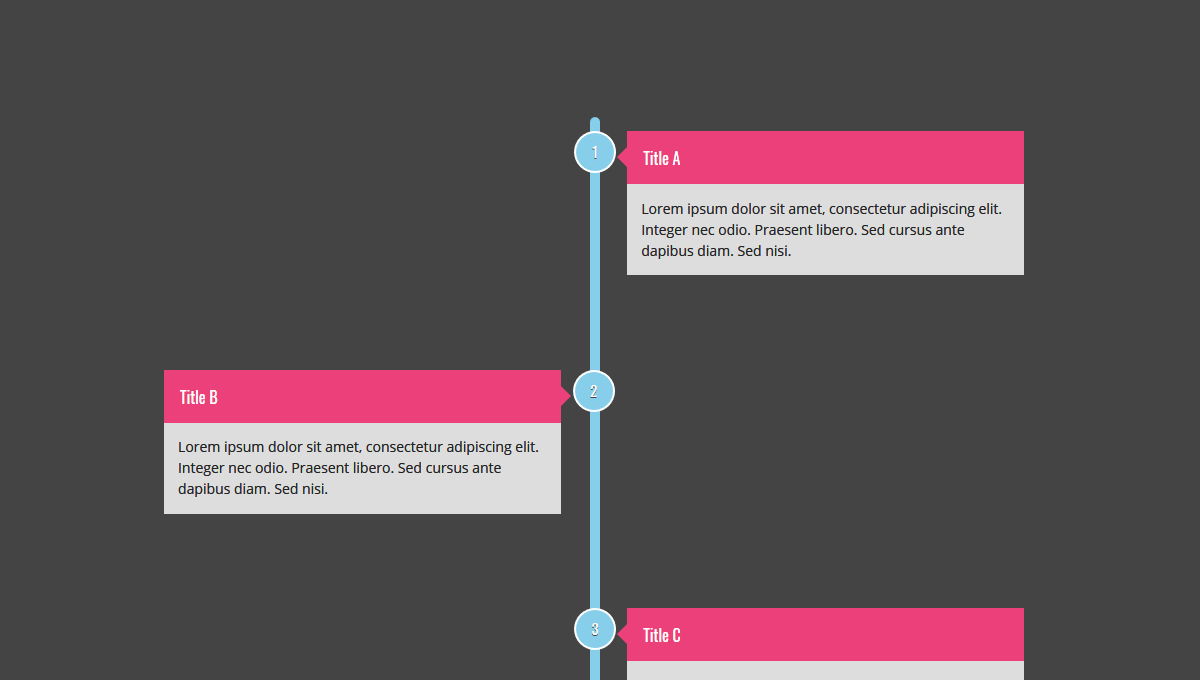 Demo image: Timeline Created with CSS Grid