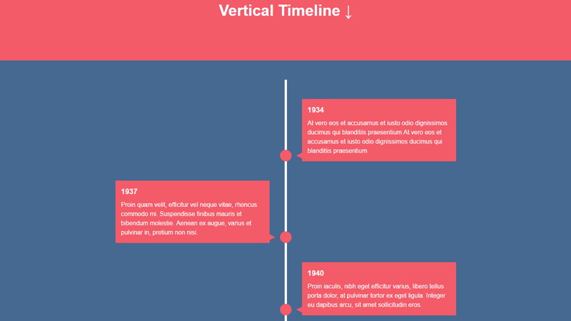 Demo Image: Vertical Timeline With CSS