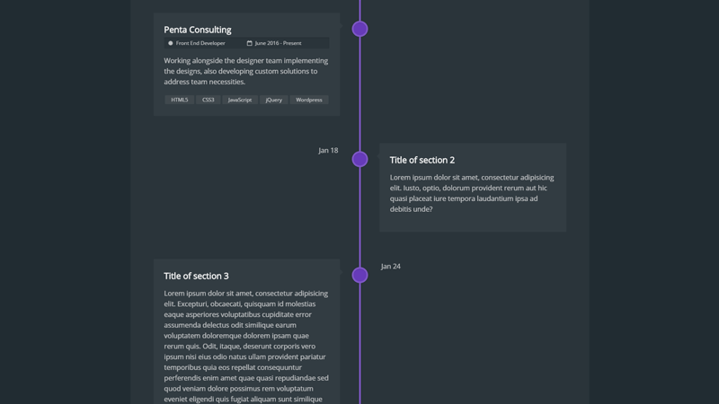 65 CSS Timelines