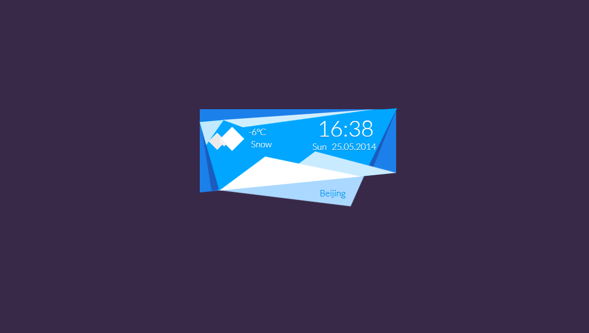 10 CSS Weather Widgets