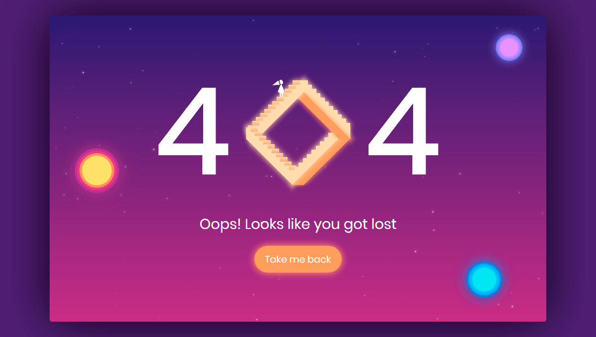 Demo image: 404 Error Page