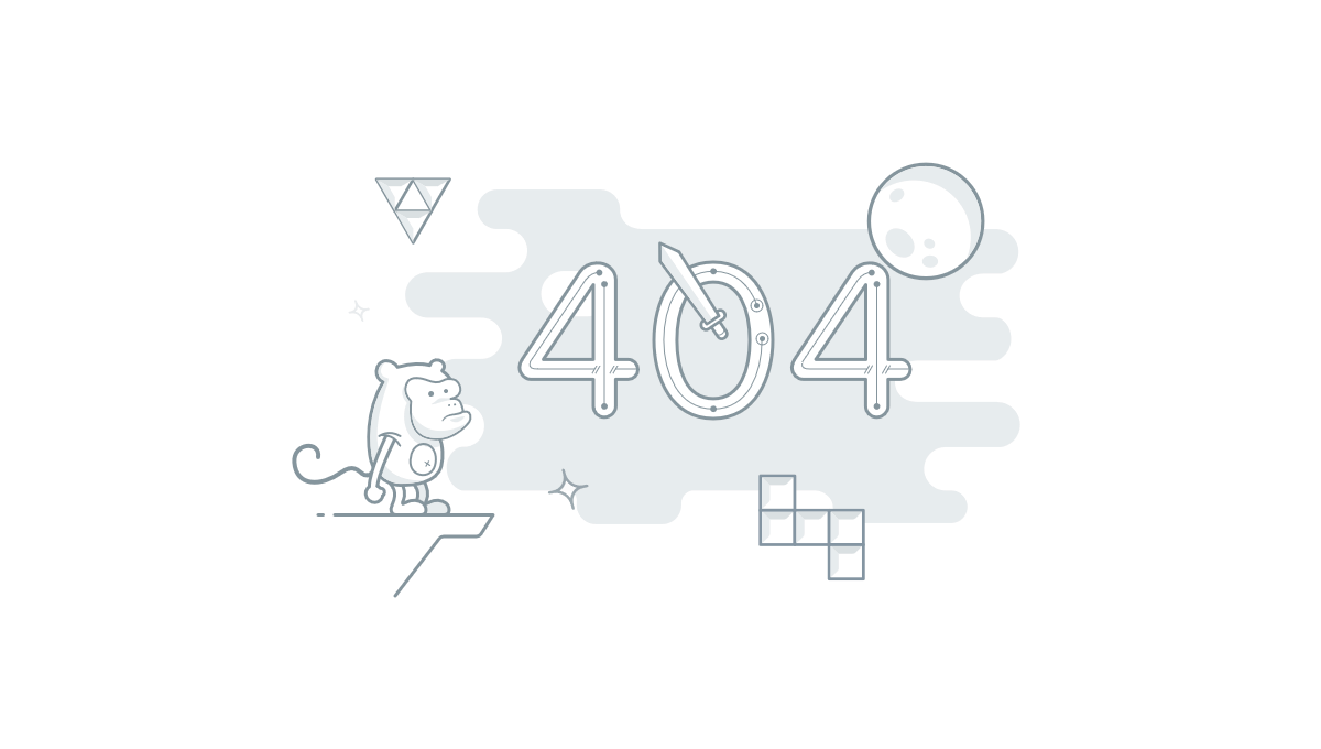 Demo image: 404 Page with SVG