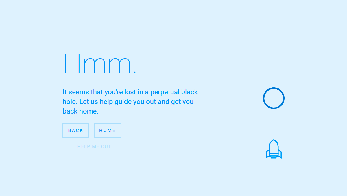 Demo image: Black Hole 404 Page Template