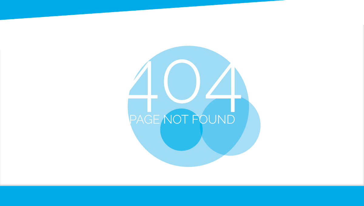 Demo image: Simple Pure CSS3 404 Error Page
