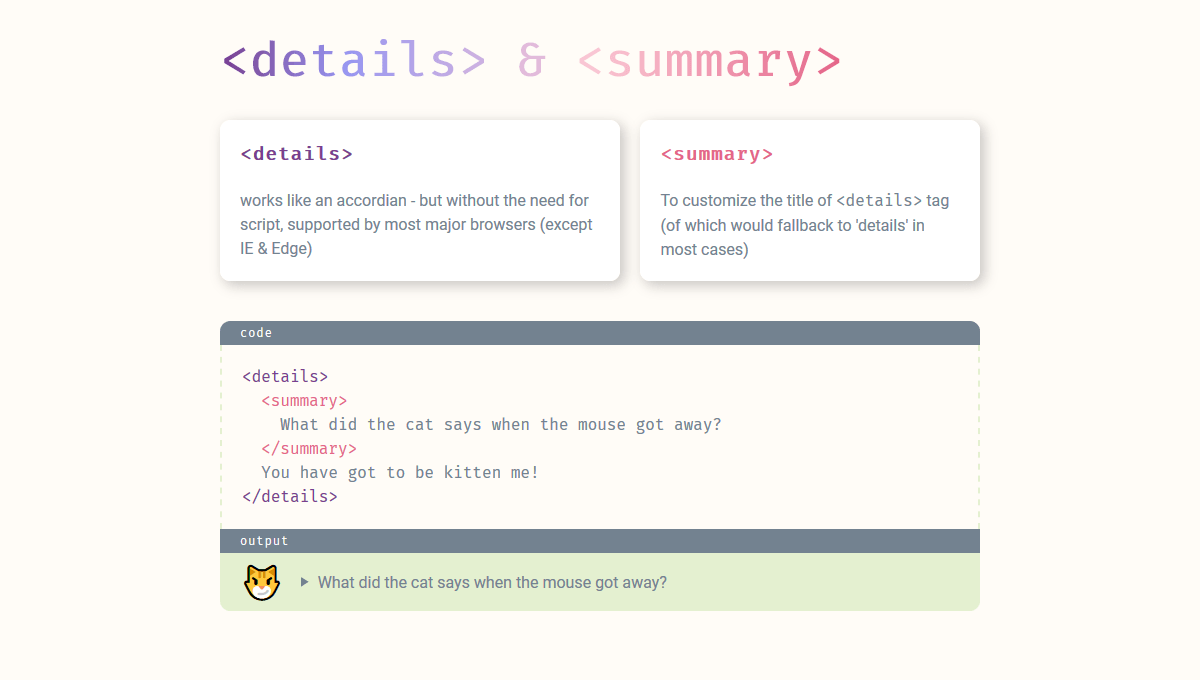25 HTML <details> & <summary> with CSS