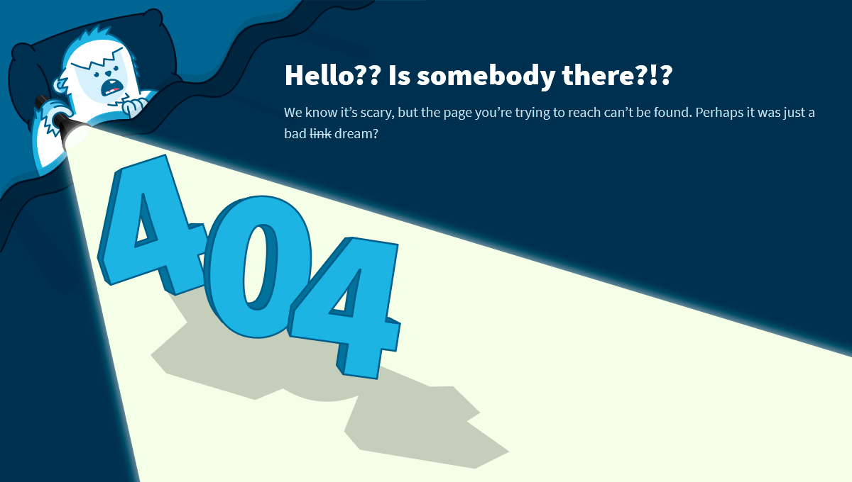 18 html funny 404 pages demo image yeti 404 page maxwellsz