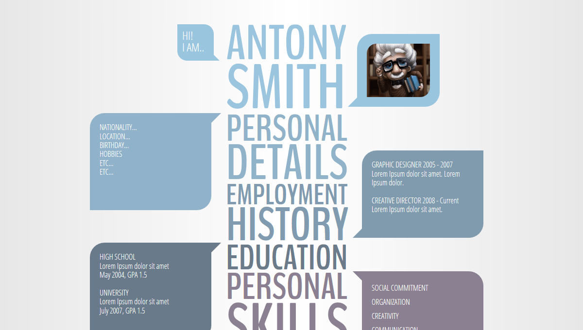 Demo image: CSS3 Creative Resume