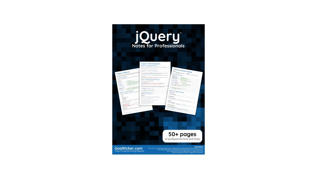 Jquery Recipes A Problem-solution Approach Pdf