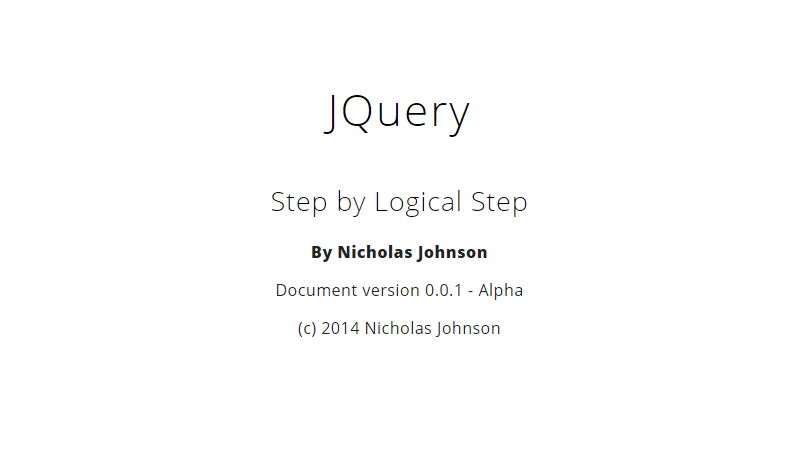 Cover book: JQuery. Step by Logical Step