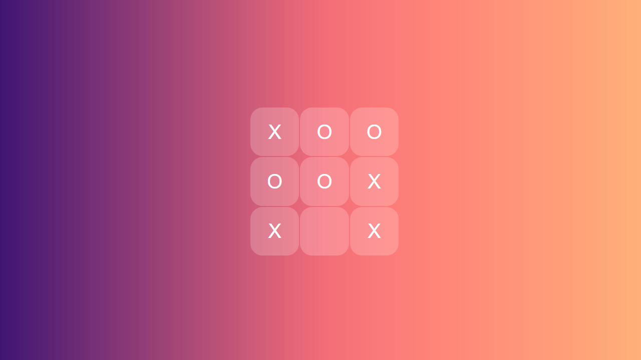 Demo image: Pretty Tic Tac Toe