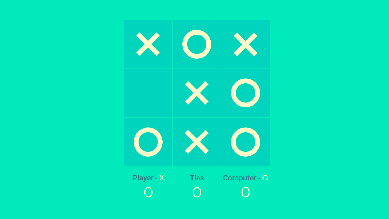 Demo image: Tic Tac Toe Game