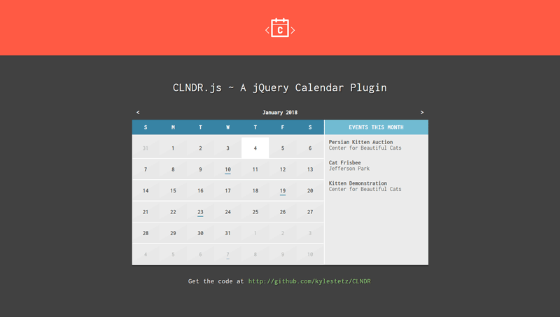 Collection of free jQuery calendar plugins.