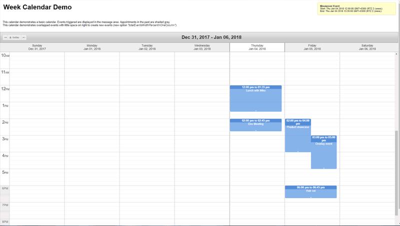 12 jQuery Calendar Plugins