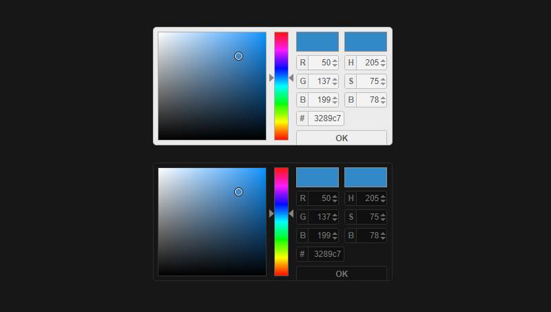 Demo image: Colpick Color Picker