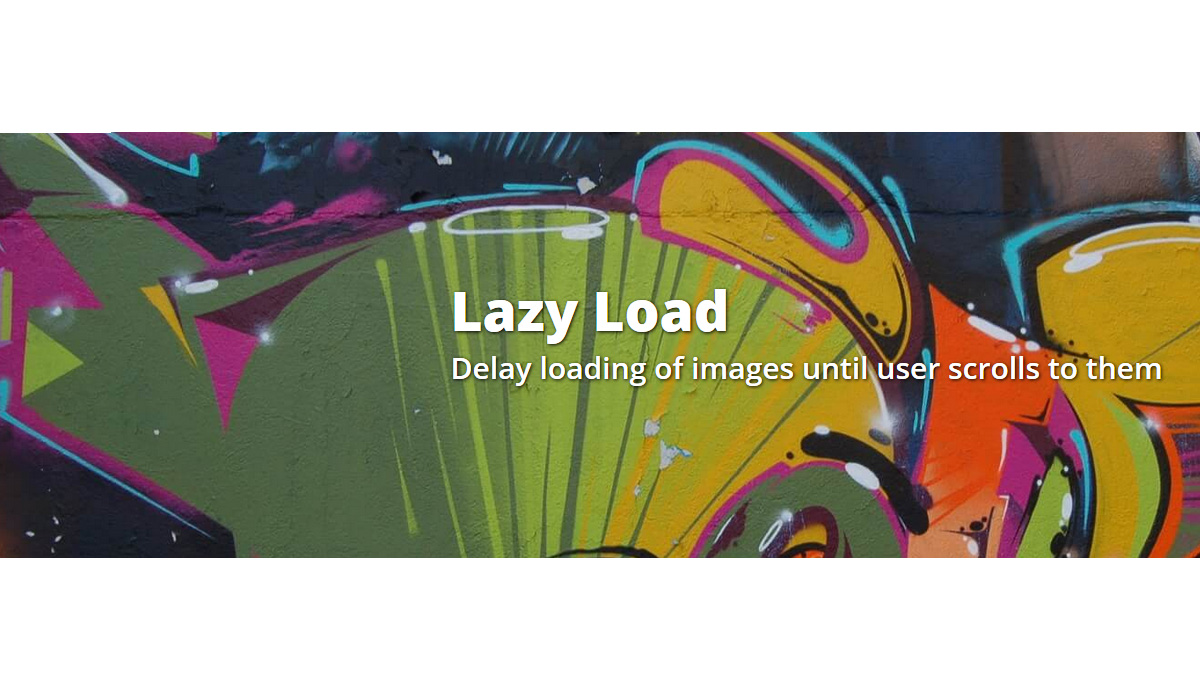 Collection of free jQuery lazy load plugins for images, videos and other content.