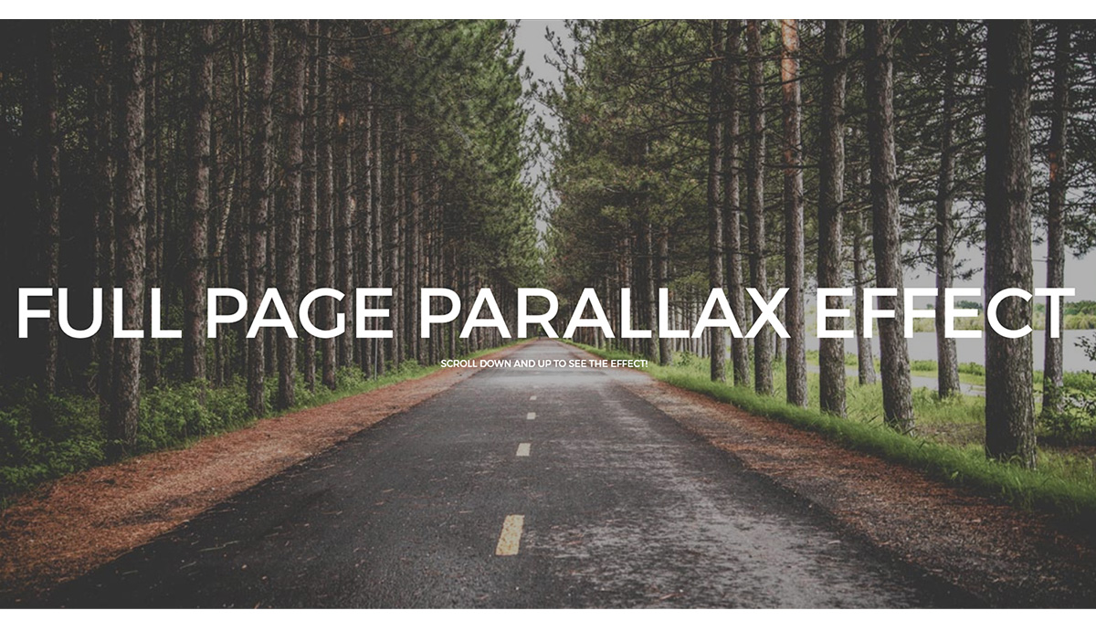 Demo image: Full Page Parallax Scroll Effect