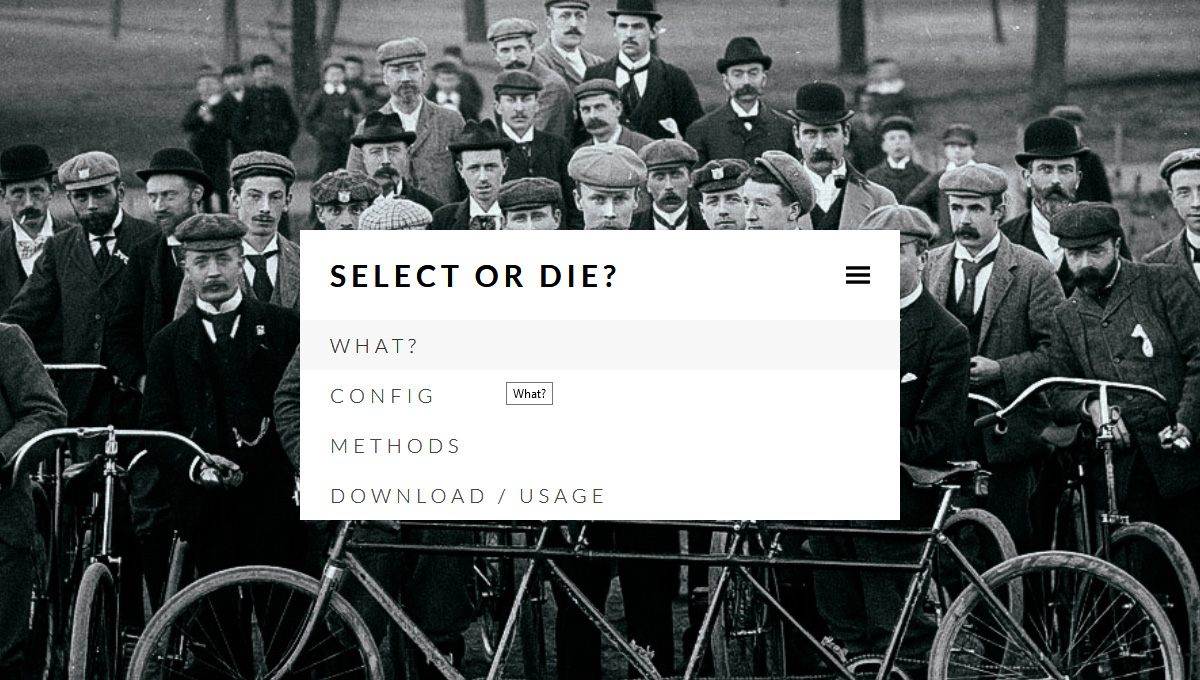 Demo image: Select-or-Die