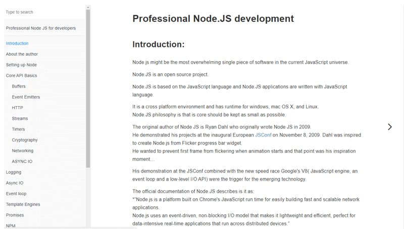 Cover book: Professional Node.js Development