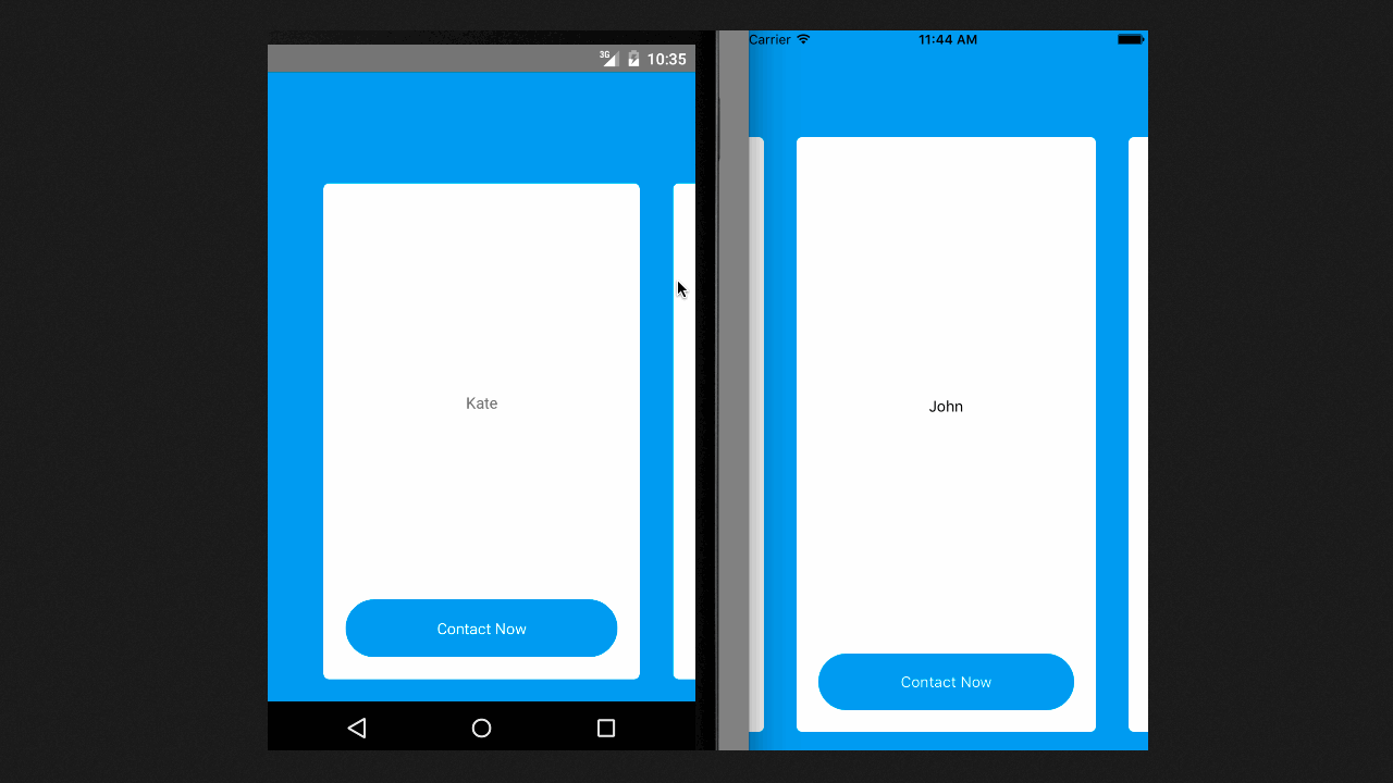 Demo image: React Native Carousel Control