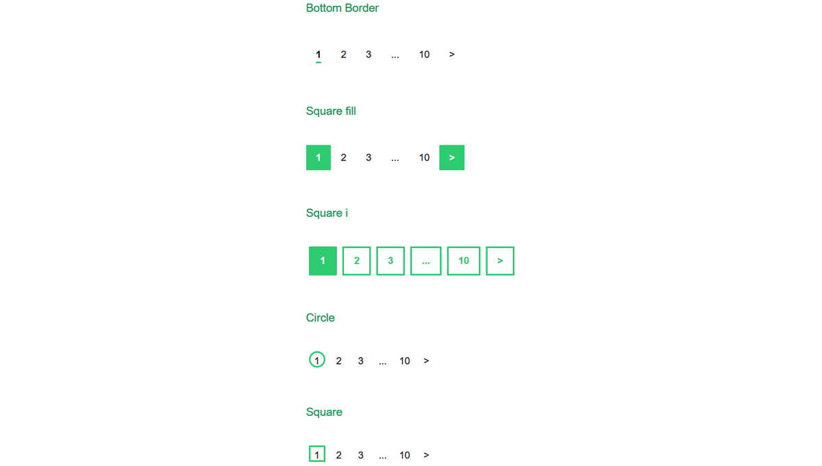 Demo image: react-pagination
