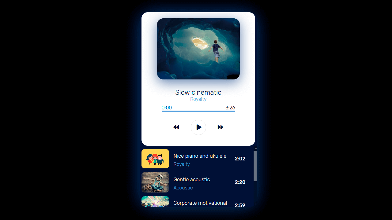 Collection of free React music player code examples.
