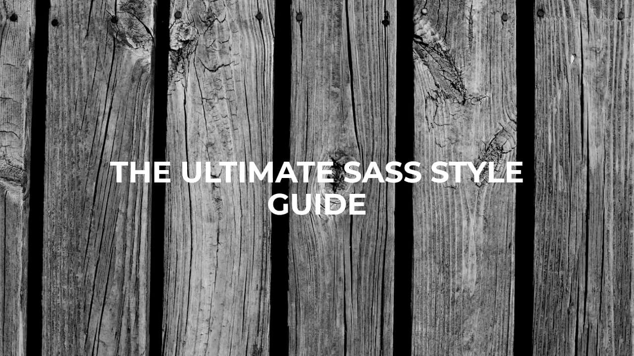 Demo image: The Ultimate Sass Style Guide