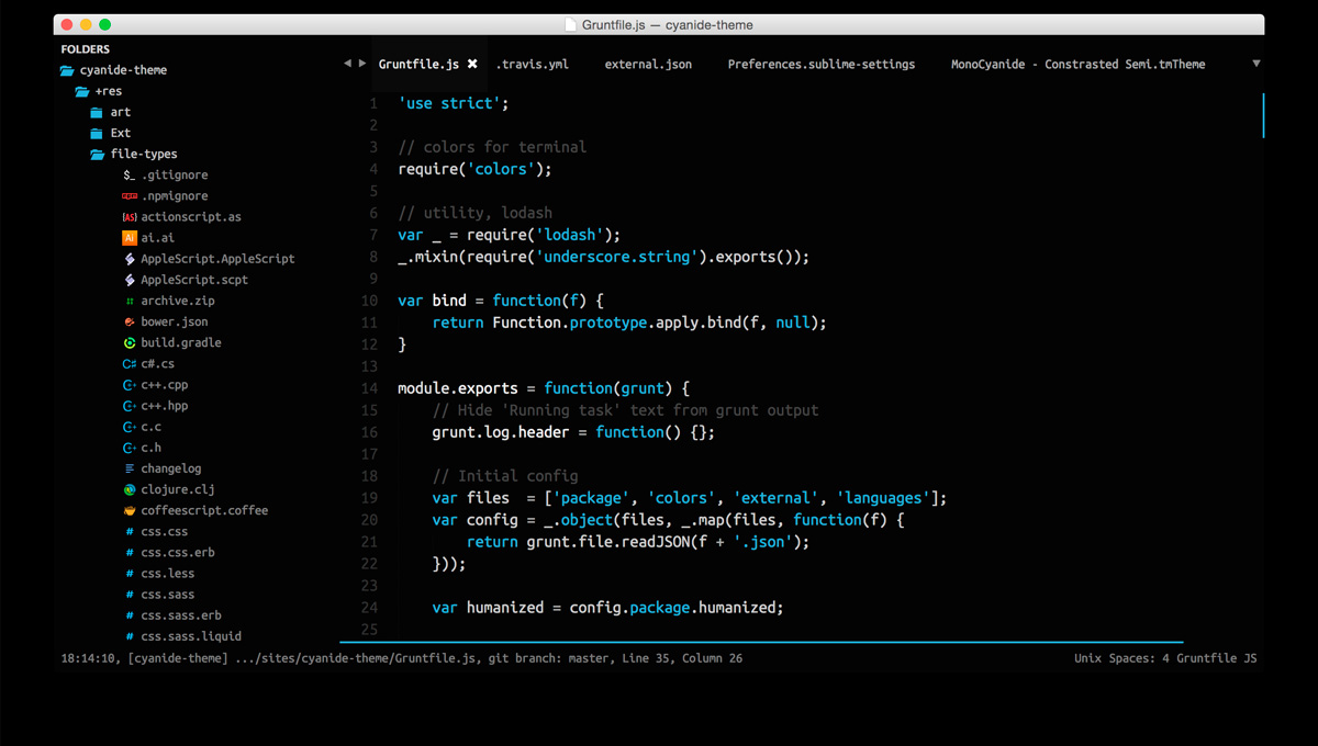 18 Sublime Text Themes